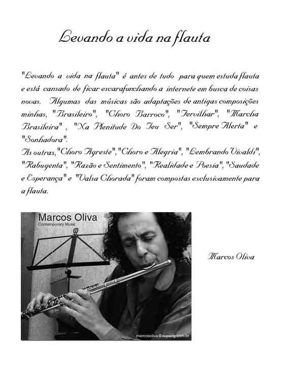 partituras para flauta. Levando a vida na flauta